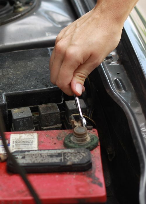 Disconnect The Positive Battery Connector By Using A Wrench Or Ratchet Socket Usually An 8mm To Loosen Nut Doesn T Need Be Completely